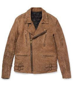 Blackmeans | Slim-Fit Distressed Suede Biker Jacket