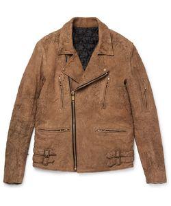 Blackmeans | Slim-Fit Distressed Suede Biker Jacket