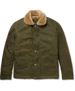Freemans Sporting Club | Shearling-Lined Waxed-Cotton Jacket