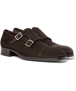 Tom Ford | Edgar Suede Monk-Strap Shoes