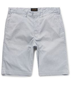Beams Plus | Slim-Fit Striped Seersucker Shorts