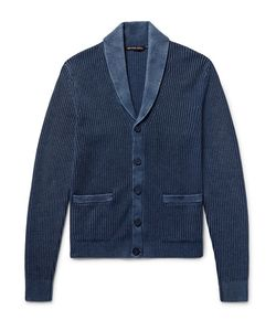 Michael Kors | Shawl-Collar Ribbed Linen And Cotton-Blend Cardigan Storm
