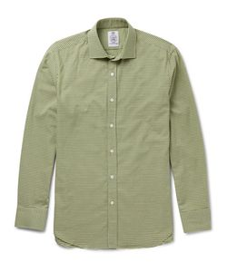 Cordings | Puppytooth Brushed Cotton Shirt