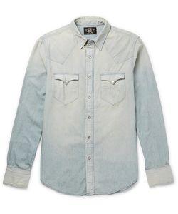 RRL | Buffalo Slim-Fit Washed-Denim Western Shirt