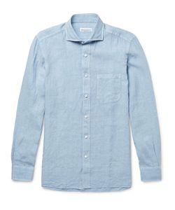 RUBINACCI | Cutaway-Collar Linen Shirt