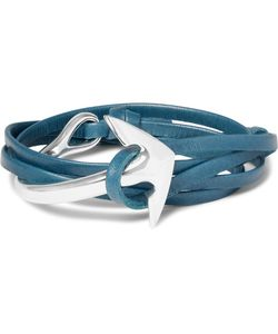 MIANSAI | Anchor Leather Plated Wrap Bracelet