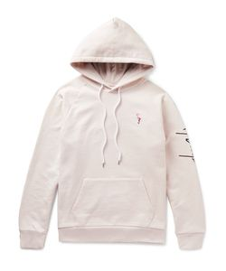 SECOND/LAYER | Embroidered Loopback Cotton-Jersey Hoodie