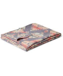 Faherty   Adirondack Brushed Cotton-Jacquard Blanket