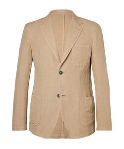 Massimo Alba   Slim-Fit Unstructured Linen And Cotton-Blend Blazer