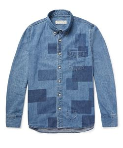 Remi Relief | Slim-Fit Patchwork-Effect Denim Shirt