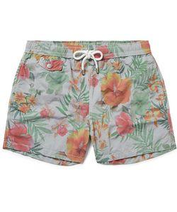 Hartford   Mid-Length Print Swim Shorts