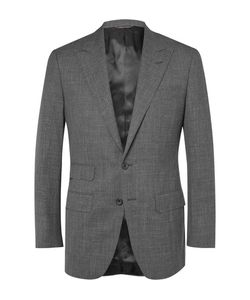 Thom Sweeney | Wool Silk And Linen-Blend Sharkskin Suit Jacket