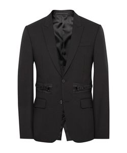 Givenchy | Slim-Fit Zip-Detailed Wool And Mohair-Blend Blazer