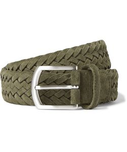 ANDERSON'S | 3.5cm Woven Suede Belt