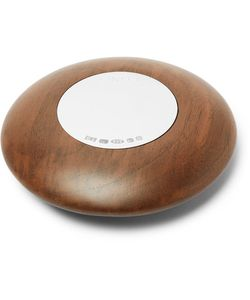 Linley | Pebble Walnut And Sterling Paperweight