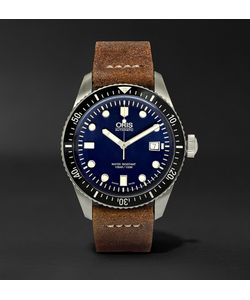 Oris | Divers Heritage 65 Stainless Steel And Suede Automatic Watch
