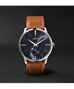 Junghans | Meister Handaufzug 38mm Stainless Steel And Leather Watch