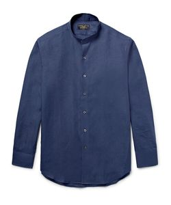 Emma Willis | Slim-Fit Grandad-Collar Linen Shirt