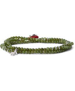 Isaia   Saracino Jade Wrap Bracelet