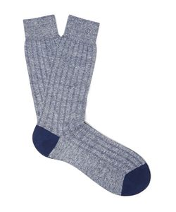 PANTHERELLA | Hamada Mélange Ribbed-Knit Socks