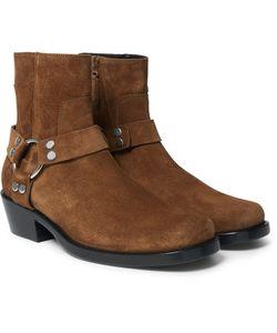 Balenciaga | Suede Harness Boots