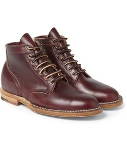 Viberg | Leather Lace-Up Boots