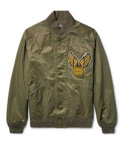 RRL | Lewis Appliquéd Cotton-Blend Twill Bomber Jacket