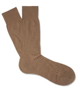 PANTHERELLA | Laburnum Ribbed Merino Wool-Blend Socks