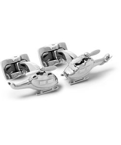 Deakin & Francis | Helicopter Rhodium-Plated Cufflinks