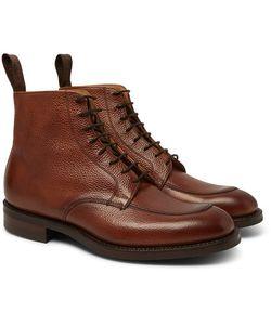 CHEANEY | Richmond Pebble-Grain Leather Boots