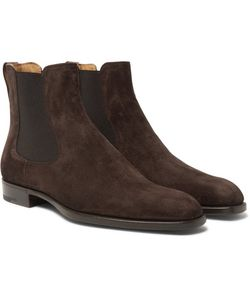 BERLUTI | Leather-Trimmed Suede Chelsea Boots