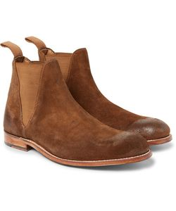 Grenson | Nolan Burnished-Suede Chelsea Boots