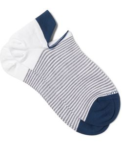 Marcoliani | Striped Cotton-Blend No-Show Socks