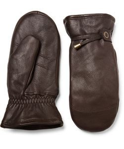 Hestra | Shearling-Lined Leather Mittens