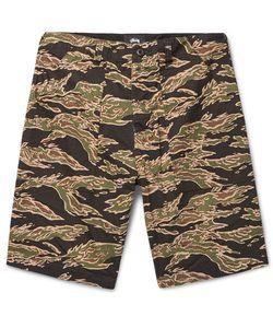Stüssy | Military Camouflage-Print Cotton-Seersucker Shorts