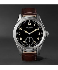 Mont Blanc | Summit 46mm Titanium And Leather Smartwatch