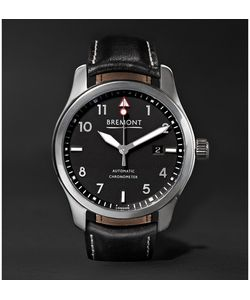 Bremont | Solo/Pb 43mm Stainless Steel And Leather Automatic Watch