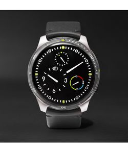Ressence | Type 5 40mm Titanium And Leather Mechanical Watch