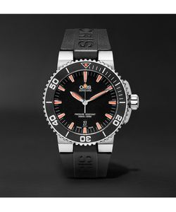 Oris | Aquis Date Stainless Steel And Rubber Divers Watch