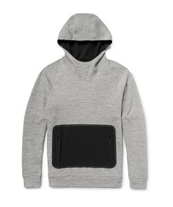 Under Armour Sportswear | Stretch-Canvas And Shell-Panelled Honeycomb-Knit Cotton Hoodie