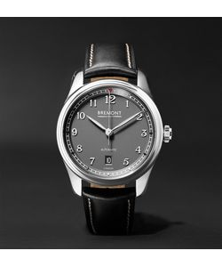 Bremont | Airco Mach 2 40mm Stainless Steel And Leather Watch