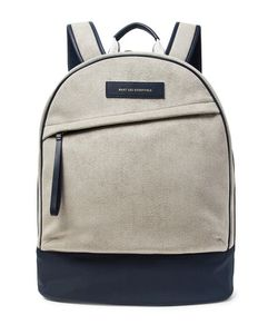 Want Les Essentiels | Kastrup Nylon And Leather-Trimmed Faux Suede Backpack