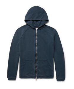 NONNATIVE   Coach Overdyed Loopback Cotton-Jersey Zip-Up Hoodie