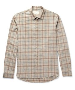 Folk | Checked Cotton And Wool-Blend Shirt