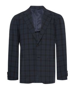 Camoshita | Slim-Fit Checked Wool-Blend Seersucker Blazer