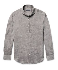 Thom Sweeney | Slim-Fit Cutaway-Collar Linen Shirt