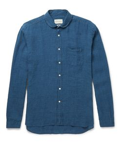 Oliver Spencer | Penny-Collar Checked Linen Shirt