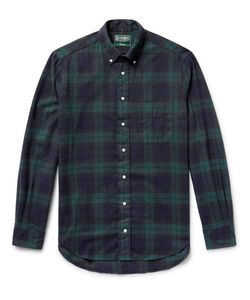Gitman Vintage | Button-Down Collar Watch Checked Brushed-Cotton Flannel Shirt