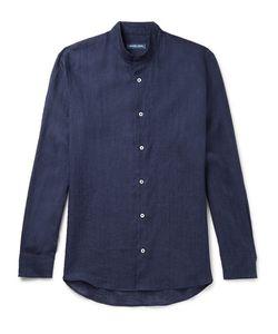 FRESCOBOL CARIOCA | Grandad-Collar Linen Shirt