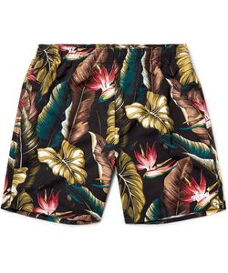 Stüssy | Slim-Fit Long-Length Printed Swim Shorts